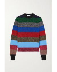 Victoria Beckham - Gestreifter Pullover Aus Lurex® Aus Einer Baumwollmischung - Lyst