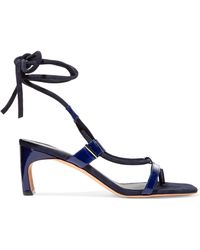 Rosetta Getty - Patent-leather And Suede Sandals - Lyst