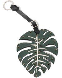 Valentino - Studded Leather Keychain - Lyst