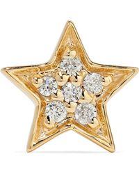 Andrea Fohrman - Mini Star 14-karat Gold Diamond Earring - Lyst