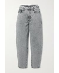 Agolde + Net Sustain Balloon High-rise Tapered Jeans - Grey