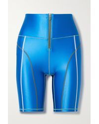 All Access Zip Front Stretch Shorts - Blue