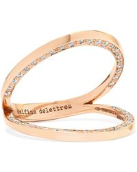 Delfina Delettrez - 18-karat Rose Gold Diamond Ring Rose Gold 7 - Lyst