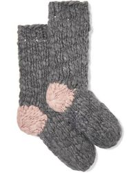 Eberjey The Scout Knitted Socks - Gray