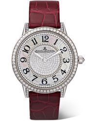 Jaeger-lecoultre - Rendez-vous Night & Day Ivy 34mm 18-karat White Gold, Alligator And Diamond Watch - Lyst