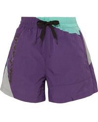 T By Alexander Wang Color-block Shell Shorts - Purple