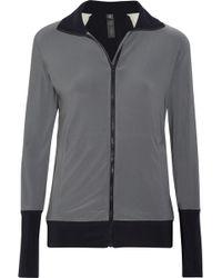 Norma Kamali - Color-blocked Stretch-jersey Jacket - Lyst
