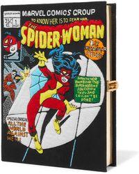 Olympia Le-Tan - Spider-woman Appliquéd Cotton-canvas Clutch - Lyst
