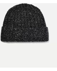 Johnstons of Elgin + Net Sustain Donegal Ribbed Cashmere Beanie - Grey