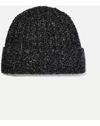Johnstons + Net Sustain Donegal Ribbed Cashmere Beanie - Gray