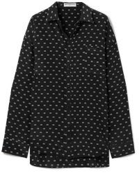 Balenciaga Masculin Printed Silk Shirt - Black
