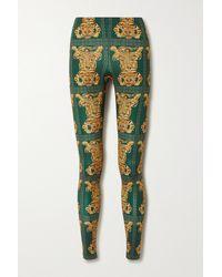 La DoubleJ Printed Stretch-jersey Leggings - Green