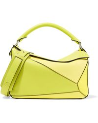 Loewe - Puzzle Small Color-block Textured-leather Shoulder Bag - Lyst