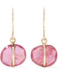 Melissa Joy Manning - 14-karat Gold Sapphire Earrings Gold One Size - Lyst