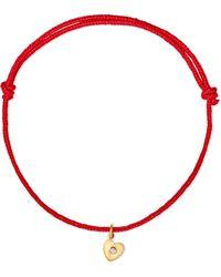 Marie-hélène De Taillac - Heart 18-karat Gold Diamond Bracelet - Lyst