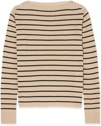 Max Mara - Alghero Striped Silk And Linen-blend Jumper - Lyst