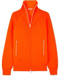 Tibi - Neon Ribbed Stretch-knit Cardigan - Lyst
