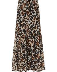 Sonia Rykiel - Leopard-print Silk-chiffon Maxi Skirt - Lyst