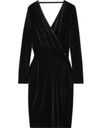 By Malene Birger - Jannina Wrap-effect Metallic Stretch-velvet Dress - Lyst