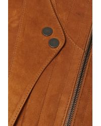 Khaite Nicolette Quilted Suede Bomber Jacket - Brown