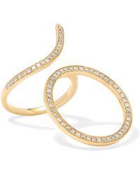 Anissa Kermiche Perle Rare 14 Karat Gold Pearl And Diamond Ring