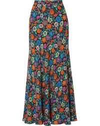 Etro - Floral-print Crepe Maxi Skirt - Lyst