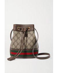 Gucci Ophidia GG Bucket Bag Leather Ebru - Braun