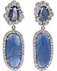 Kimberly Mcdonald - 18-karat White Gold Multi-stone Earrings - Lyst