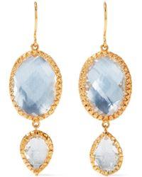 Larkspur & Hawk Convertible Sadie Rose Gold-dipped Quartz Earrings GwXVnQj