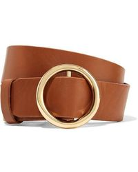 FRAME Le Circle Leather Belt - Brown