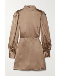 Reformation Kim Open-back Silk-satin Mini Dress - Multicolour