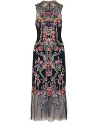 Notte by Marchesa - Beaded Embroidered Tulle Midi Dress - Lyst