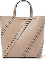 Proenza Schouler - Hex Small Paneled Textured-leather Tote - Lyst