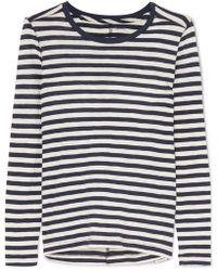 Madewell - Whisper Striped Slub Cotton-jersey Top - Lyst