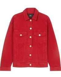 3x1 Oversized Denim Jacket - Red