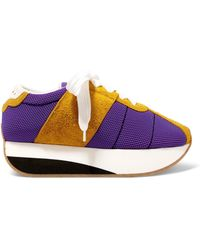 Marni - Mesh And Suede Platform Trainers - Lyst