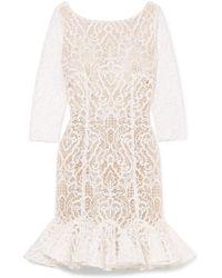 Rime Arodaky - Gillian Ruffled Lace Mini Dress - Lyst