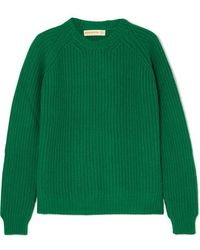 &Daughter Moira Ribbed Wool Jumper - Green