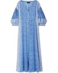 HATCH - Nessa Floral-print Cotton-voile Midi Dress - Lyst