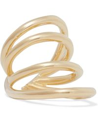 Jennifer Fisher - Overlap Circle Gold-plated Pinky Ring - Lyst