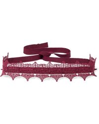 Anna Sui - Metallic Lace And Grosgrain Choker - Lyst