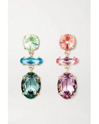 Roxanne Assoulin Hip-hop But Not Baby Gold-plated Swarovski Crystal Earrings - Metallic