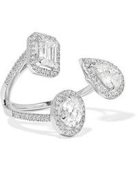 Messika - My Twin Trilogy 18-karat White Gold Diamond Ring - Lyst