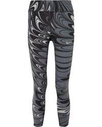 Nike - Power Epic Lux Printed Dri-fit Stretch Leggings - Lyst
