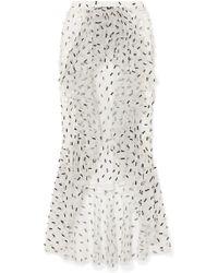 Rodarte - Ruffled Embellished Tulle Midi Skirt - Lyst