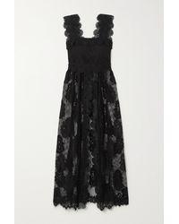 Waimari + Net Sustain Almare Recycled Guipure Lace And Cotton Midi Dress - Black
