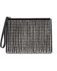 Christopher Kane - Crystal-embellished Patent-leather Clutch - Lyst