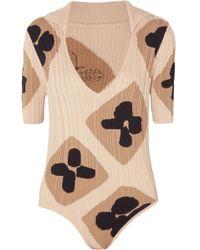 Jacquemus - La Maille Henri Ribbed Intarsia Cotton Bodysuit - Lyst