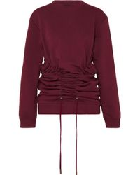 Y. Project | Drawstring Cotton-jersey Sweatshirt | Lyst