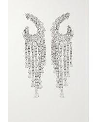 YEPREM 18-karat White Gold Diamond Earrings - Metallic